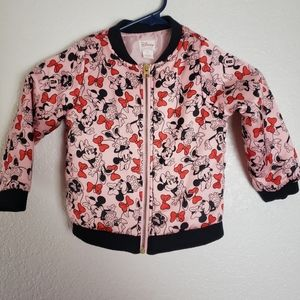Disney Minnie Mouse Pink Bomber Jacket Size 4T